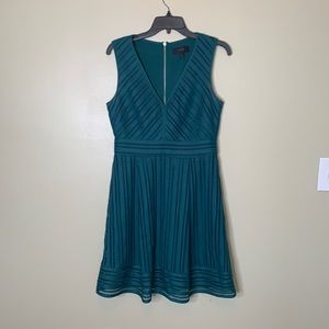 J. Crew green lacy dress